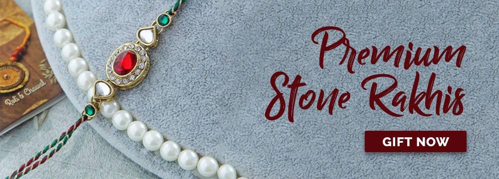 Premium Stone Rakhis Online