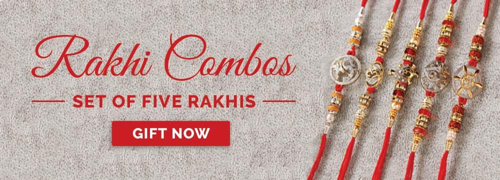 Set of 5 Rakhis Online