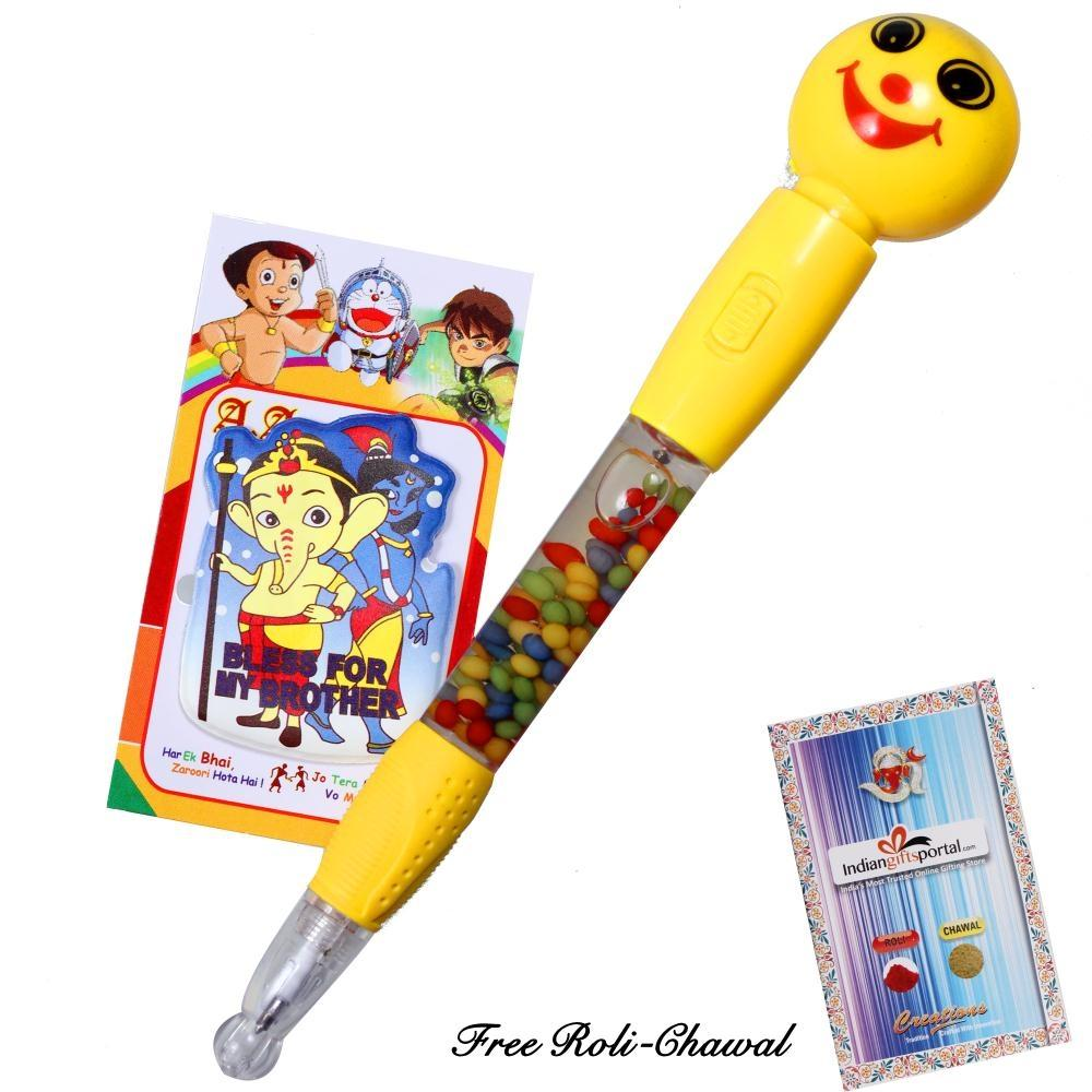 Smiley Light Pen with Rakhi
