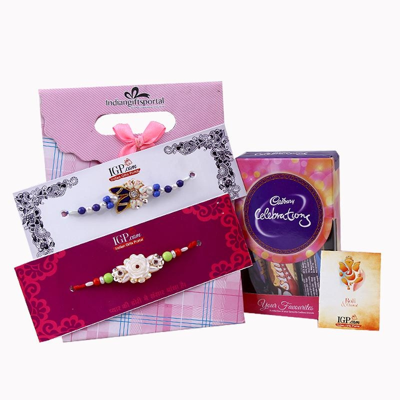 Cadburys with 2 Rakhi Set