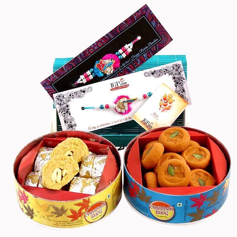 Assorted Sweets Rakhi Combo