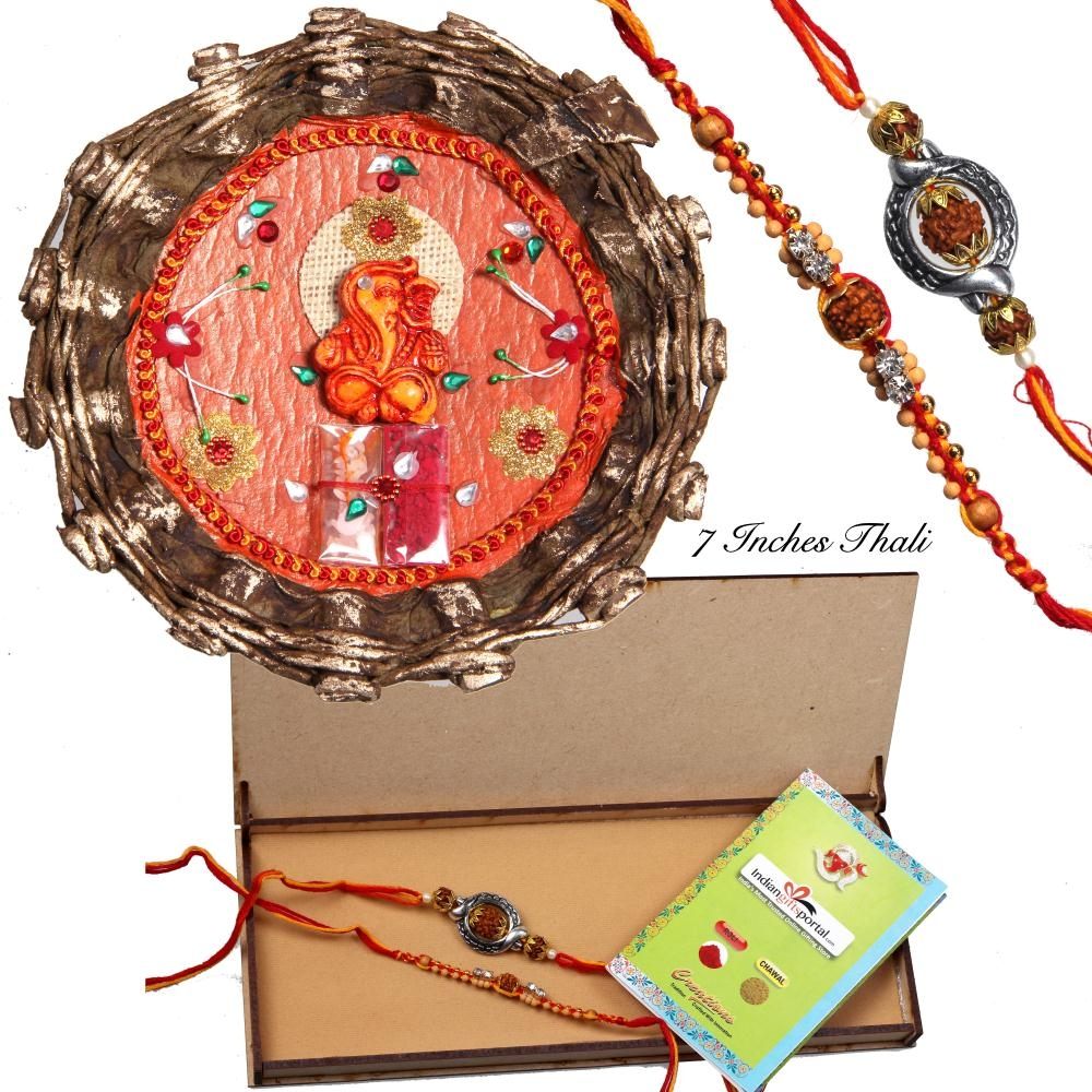 Antique Rakhi Thali